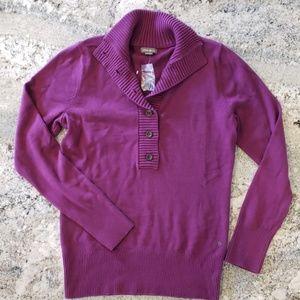 Eddie Bauer Half Button Cardigan Sweater M